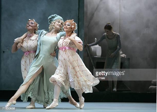 Anastasia Vinokur Maria Volodina Lola Kochetkova and Svetlana Zakharova of the Moscow Bolshoi Theater Cinderella Ballet perform at the Royal Opera...