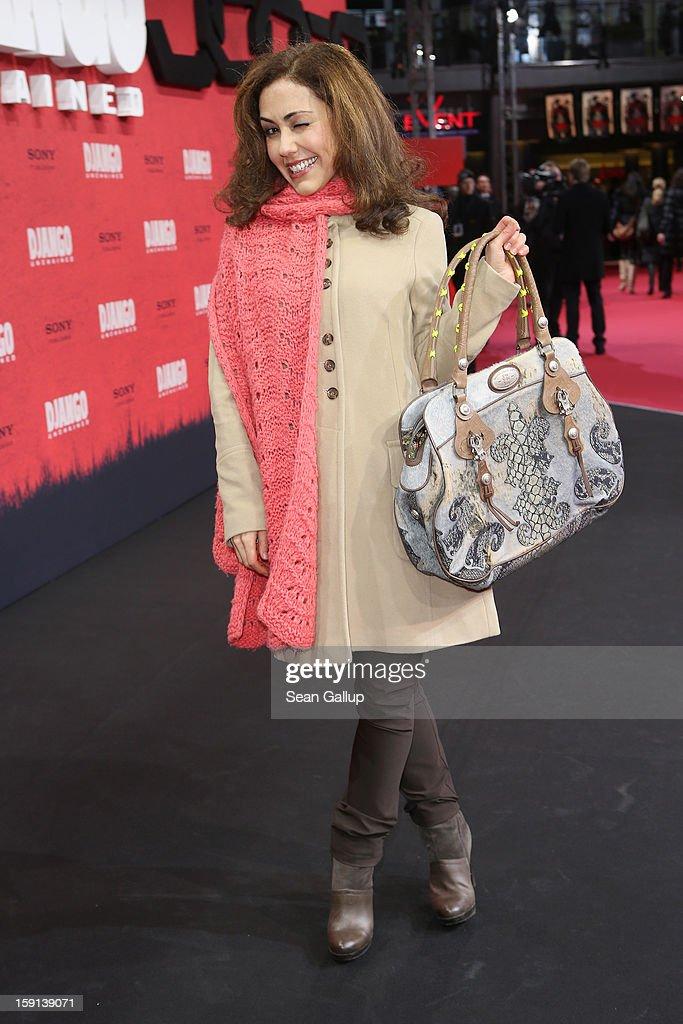 Anastasia Zampounidis attends 'Django Unchained' Berlin Premiere at Cinestar Potsdamer Platz on January 8, 2013 in Berlin, Germany.