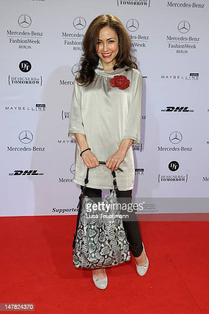 Anastasia Zampounidis attends the Dimitri Show during MercedesBenz Fashion Week Spring/Summer 2013 on July 4 2012 in Berlin Germany
