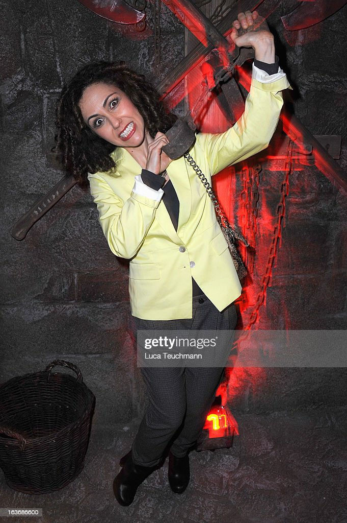 Anastasia Zampounidis attends the opening of the Berlin Dungeon near Hackescher Markt in Berlin on March 14, 2013 in Berlin, Germany.