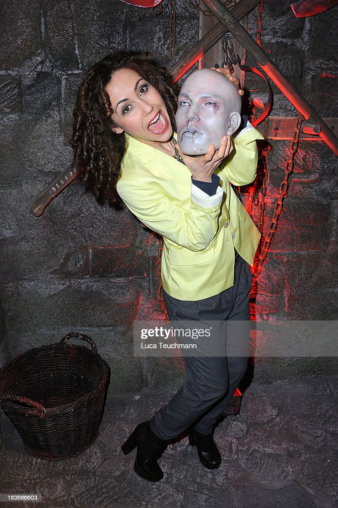 Anastasia Zampounidis attends the opening of the Berlin Dungeon near Hackescher Markt in Berlin on March 14, 2013 in Berlin, Germany.