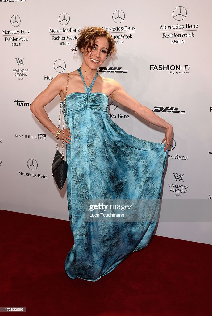 <a gi-track='captionPersonalityLinkClicked' href=/galleries/search?phrase=Anastasia+Zampounidis&family=editorial&specificpeople=638309 ng-click='$event.stopPropagation()'>Anastasia Zampounidis</a> attends the Umasan Show during Mercedes-Benz Fashion Week Spring/Summer 2014 at Brandenburg Gate on July 5, 2013 in Berlin, Germany.