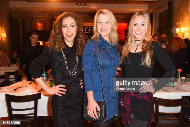 Anastasia Zampounidis Iris Mareike Steen and Sina Tkotsch attend the Ernsting's family Music Fashion Dinner on March 1 2017 in Berlin Germany