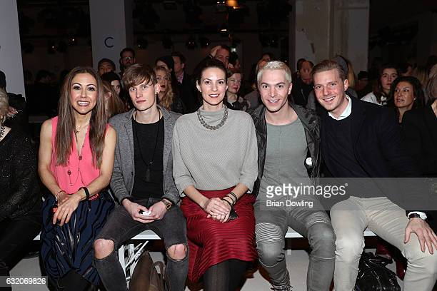 Anastasia Zampounidis Lars Urban Katrin Wrobel Julian David and a guest attend the Ewa Herzog show during the MercedesBenz Fashion Week Berlin A/W...