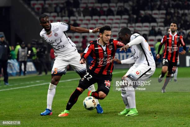 Anastasios Donis of Nice during the French Ligue 1 match between Nice and Montpellier on February 24 2017 in Nice France