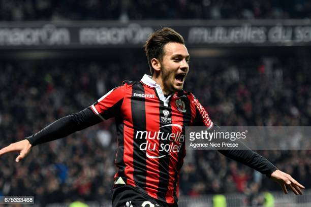 Anastasios Donis of Nice during the French Ligue 1 match between Nice and Paris Saint Germain at Allianz Riviera on April 30 2017 in Nice France