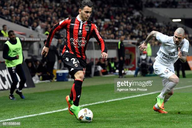 Anastasios Donis of Nice during the Ligue 1 match between OGC Nice and SM Caen at Allianz Riviera on March 10 2017 in Nice France