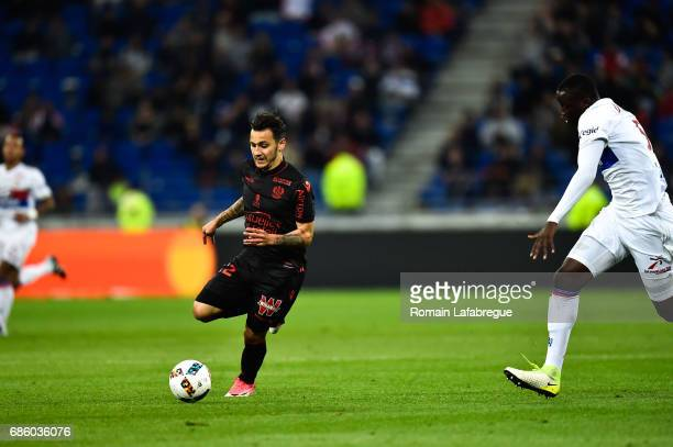 Anastasios Donis of Nice during the Ligue 1 match between Olympique Lyonnais and OGC Nice at Stade des Lumieres on May 20 2017 in Decimes France