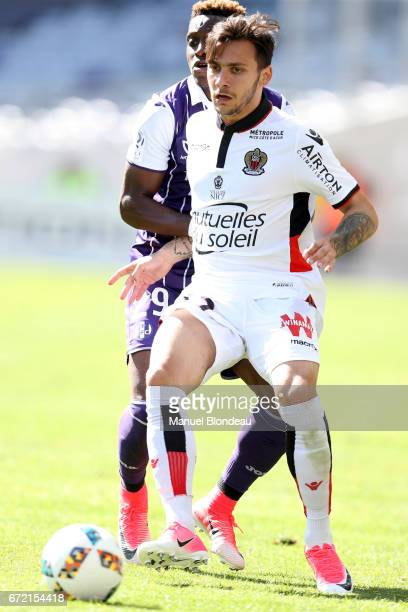 Anastasios Donis of Nice during the Ligue 1 match between Toulouse FC and OGC Nice at Stadium Municipal on April 23 2017 in Toulouse France