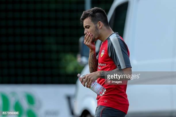 Anastasios Donis of VfB Stuttgart looks on during the Training Camp of VfB Stuttgart on July 10 2017 in Grassau Germany