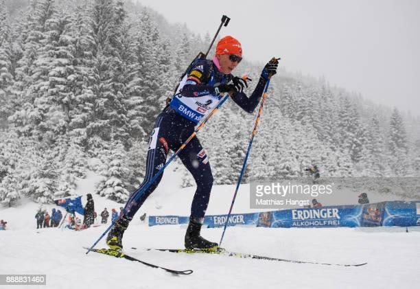 Anastasiya Kuzmina of Slovakia competes in the 10 km Women's Pursuit during the BMW IBU World Cup Biathlon on December 0 2017 in Hochfilzen Austria