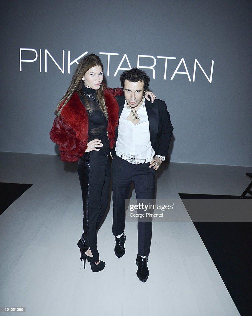 Anastassiya Hendeles and Jie Matar attend World MasterCard Fashion Week Fall 2013 Collection at David Pecaut Square on March 18, 2013 in Toronto, Canada.