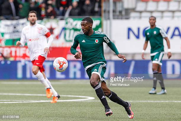 Anatole Ngamukol of Red Star during the French Ligue 2 match between Nancy and Red Star at Stade Marcel Picot on March 5 2016 in Nancy France