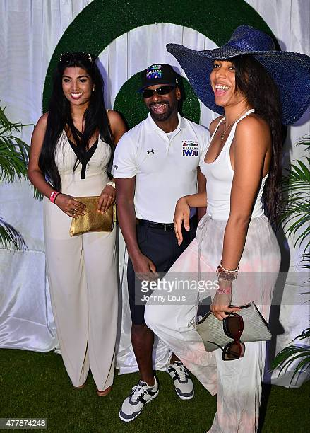 Anchal Joseph DJ Irie and Guest attends JEEP 11th Annual Celebrity Golf Tournament during The 11th Annual Irie Weekend at Miami Beach Golf Club on...
