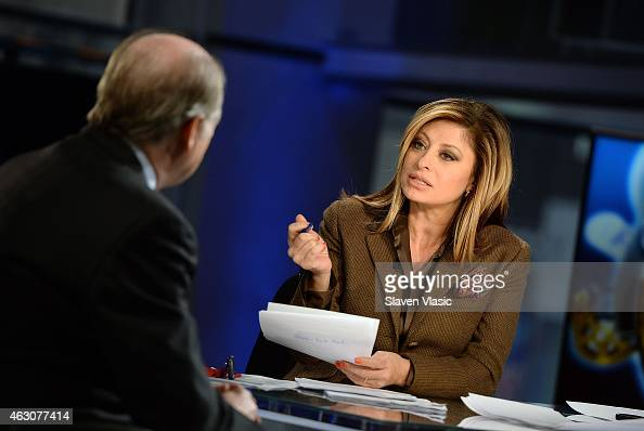 Anchor and Global Markets editor at Fox Business Network Maria Bartiromo talks to former Philadelphia Federal Reserve President Charles Plosser at...