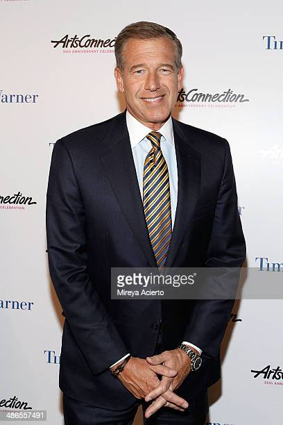 Anchor and managing editor of NBC Nightly News Brian Williams attends the ArtsConnection 35th Anniversary Spring Benefit at 583 Park Avenue on April...