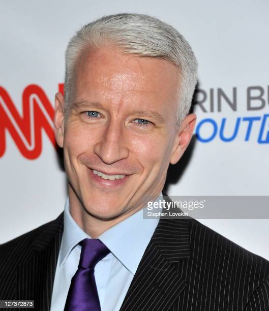 CNN anchor Anderson Cooper attends the launch party for CNN's 'Erin Burnett OutFront' at Robert atop the Museum of Arts and Design on September 27...