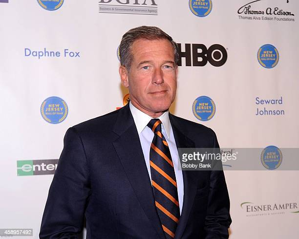 Anchor Brian Williams attends The 7th Annual New Jersey Hall Of Fame Induction Ceremony on November 13 2014 in Asbury Park United States