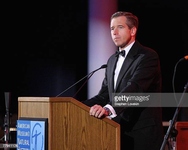 NBC anchor Brian Williams attends the Museum Gala 2007 at The American Museum of Natural History November 15 2007 in New York City