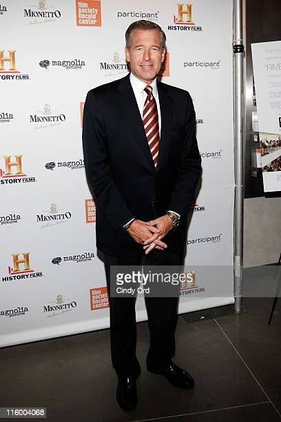 Anchor Brian Williams attends the premiere of 'Page One Inside The New York Times' at the Elinor Bunin Munroe Film Center on June 13 2011 in New York...