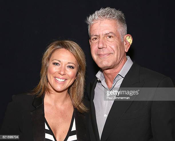 Anchor Brooke Baldwin and Executive Producer Anthony Bourdain at CNN Films Jeremiah Tower The Last Magnificent at TFF Panel Party on April 16 2016 in...