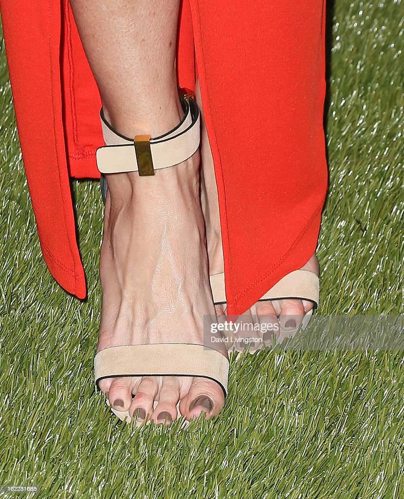TV anchor Catt Sadler (shoe detail) attends Global Green USA's 10th Annual Pre-Oscar Party at Avalon on February 20, 2013 in Hollywood, California.