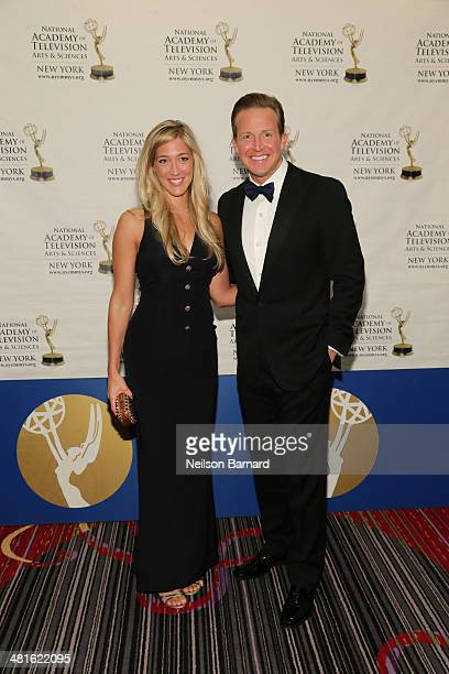 Anchor CBS 2 News This Morning CBS 2 News at Noon WCBS Chris Wragge and Sarah Siciliano arrive at the 57th Annual New York Emmy awards at Marriott...
