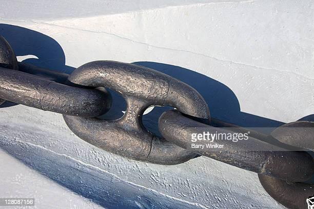 Anchor chain detail, Battleship USS Alabama, USS Alabama Battleship Memorial Park, Mobile, Alabama