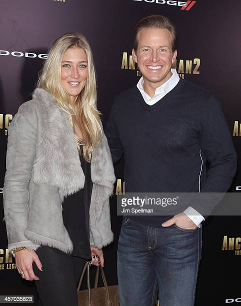 Anchor Chris Wragge and guest attend the 'Anchorman 2 The Legend Continues' US premiere at Beacon Theatre on December 15 2013 in New York City