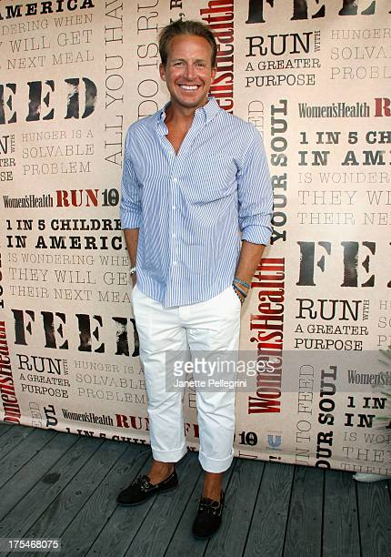 Anchor Chris Wragge attends Women's Health Hamptons 'Party Under the Stars' for RUN10 FEED10 at Bridgehampton Tennis and Surf Club on August 3 2013...