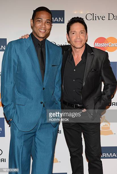 CNN anchor Don Lemon and Nominee for Best Pop Instrumental Album Dave Koz arrive for the Clive Davis The Recording Academy's 2013 PreGrammy Gala And...