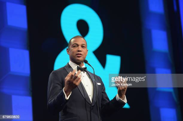 CNN anchor Don Lemon speaks on stage at the 28th Annual GLAAD Media Awards at The Hilton Midtown on May 6 2017 in New York City