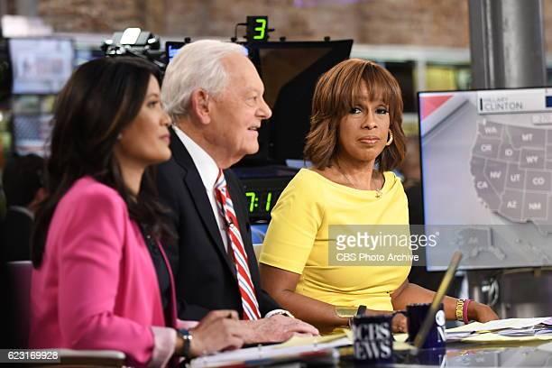 Anchor Elaine Quijano CBS News Contributor Bob Schieffer and CBS THIS MORNING Anchor Gayle King anchor CBS News' Campaign 2016 Election Night...