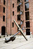 Anchor in front of Liverpool Maritime Museum