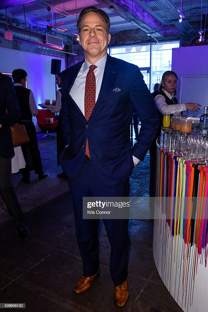 CNN anchor <a gi-track='captionPersonalityLinkClicked' href=/galleries/search?phrase=Jake+Tapper&family=editorial&specificpeople=4370975 ng-click='$event.stopPropagation()'>Jake Tapper</a> poses for a photo during the 2016 CNN Correspondents' Brunch at the Longview gallery in Washington, DC on May 1, 2016.