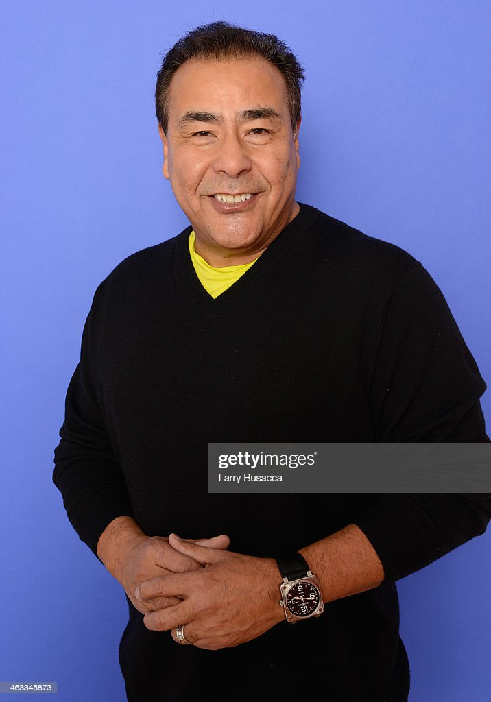 Anchor John Quinones poses for a portrait during the 2014 Sundance Film Festival at the Getty Images Portrait Studio at the Village At The Lift...