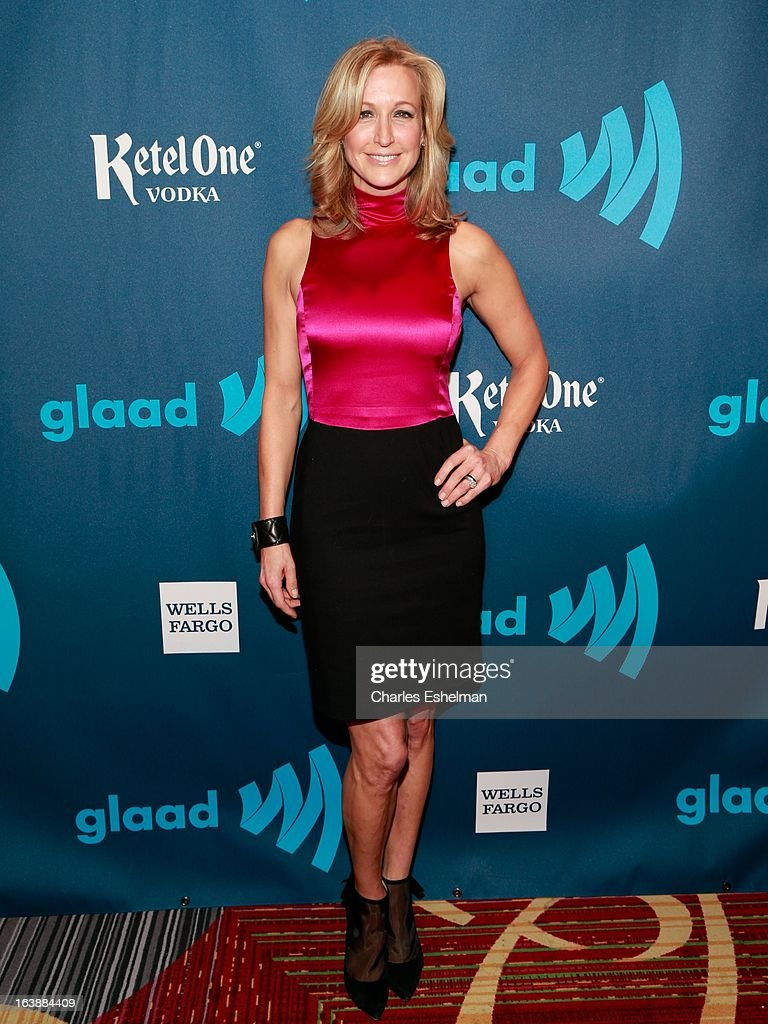 GMA anchor Lara Spencer attends the 24th annual GLAAD Media awards at The New York Marriott Marquis on March 16, 2013 in New York City.