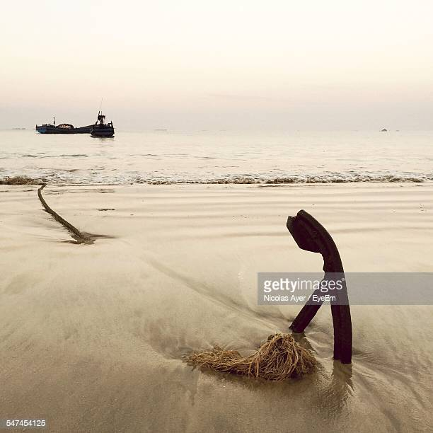 Anchor On Beach