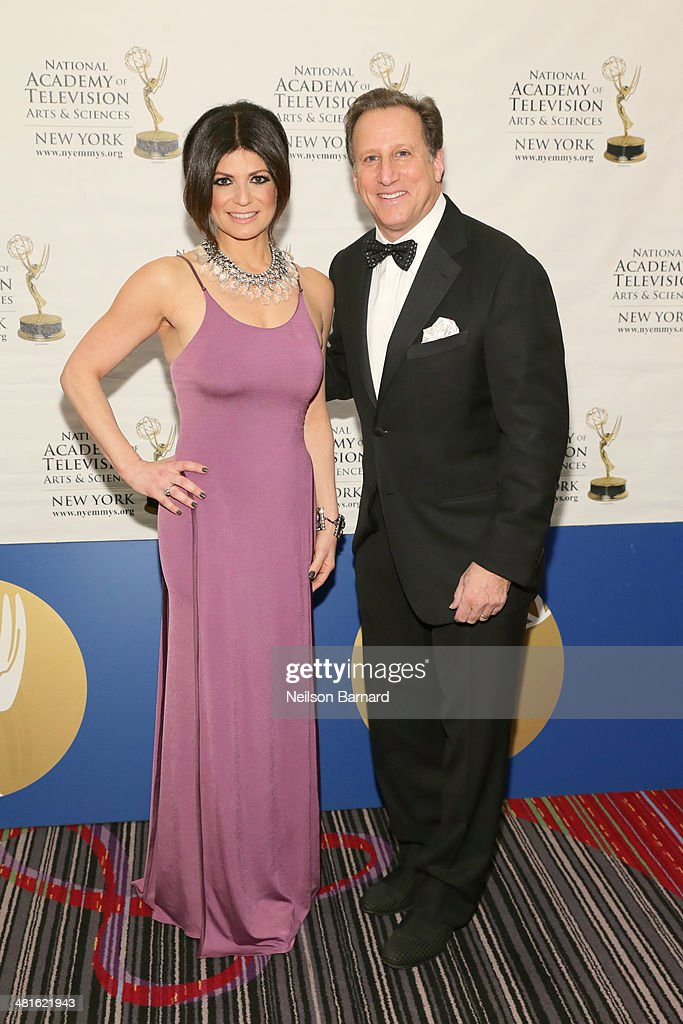 Anchor, PIX11 News at 5 p.m. & 10 p.m., WPIX Tamsen Fadal and Sports anchor at WNBC-TV <a gi-track='captionPersonalityLinkClicked' href=/galleries/search?phrase=Bruce+Beck&family=editorial&specificpeople=564084 ng-click='$event.stopPropagation()'>Bruce Beck</a> arrive at the 57th Annual New York Emmy awards at Marriott Marquis Times Square on March 30, 2014 in New York City.