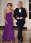 CBS anchor Scott Pelley and his wife Jane Boone Pelley arrive for the state dinner in honour of South Korea's President Lee MyungBak and his wife Kim...