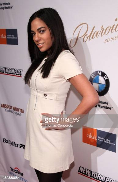 BET Anchor Sharon Carpenter attends Indashio presented by Trident Fall Collection at NYC Fashion Week STYLE360 presented by Polaroid Eyewear at...