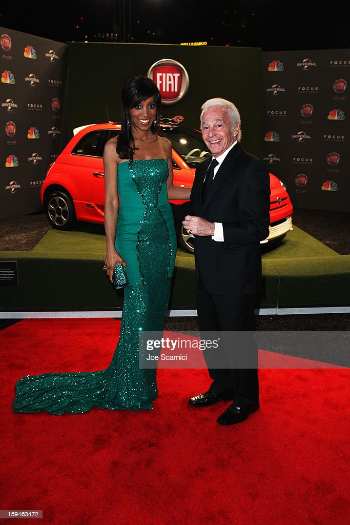 TV anchor Shaun Robinson attends Fiat's Into The Green at the 70th Annual Golden Globe Awards held at The Beverly Hilton Hotel on January 13, 2013 in Beverly Hills, California.