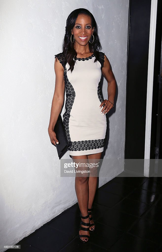 TV anchor Shaun Robinson attends the Vivica A. Fox 50th birthday celebration at Philippe Chow on August 2, 2014 in Beverly Hills, California.