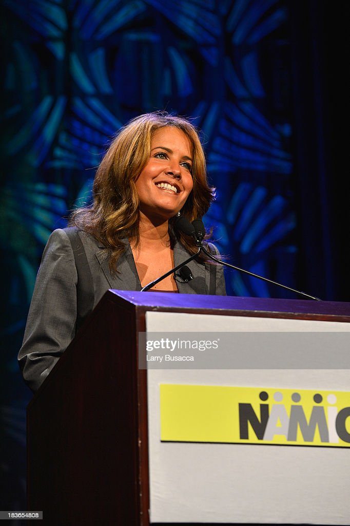 Anchor Suzanne Malveaux speaks onstage at the 2013 WICT Leadership Conference at the New York Marriott on October 8, 2013 in New York City.