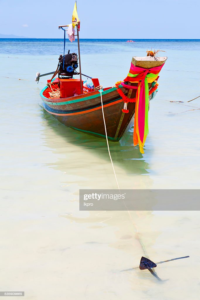 anchor thailand   kho tao bay asia isle blue : Stock Photo