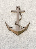 Anchor with chain symbol on background.