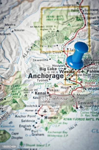 Anchorage, Alaska on a map