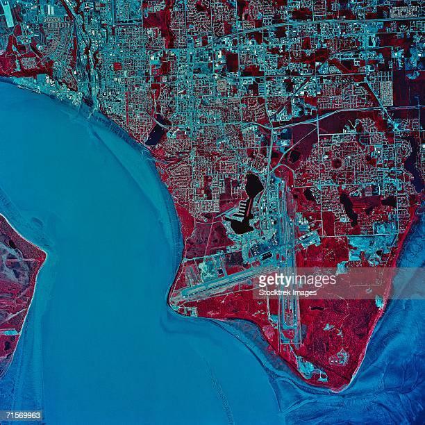 'Anchorage, Alaska, satellite image'