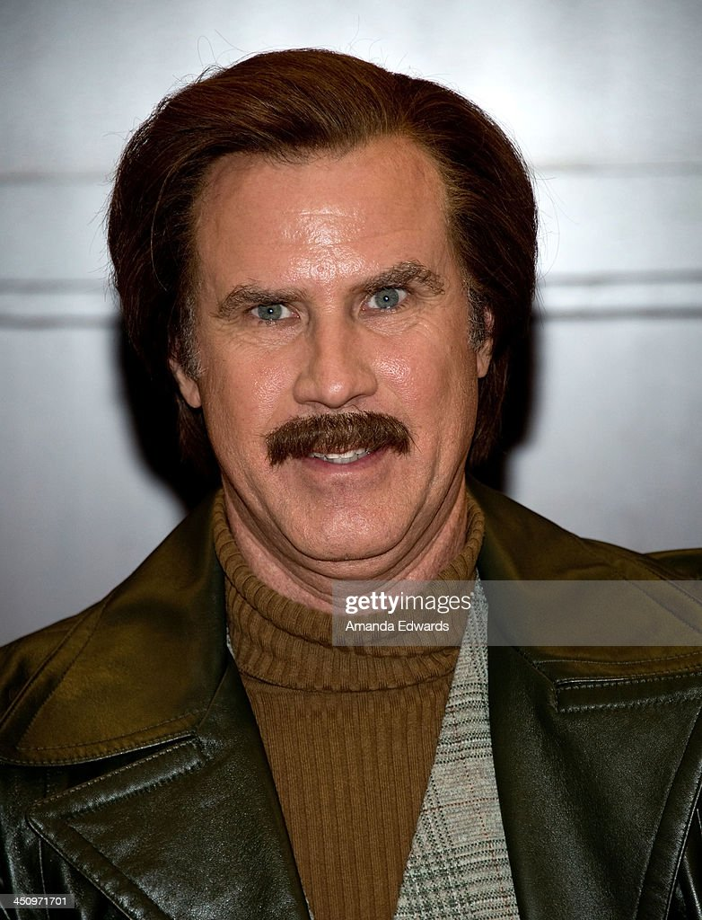 Anchorman Ron Burgundy poses before signing copies of his new book 'Let Me Off At The Top My Classy Life And Other Musings' at Barnes Noble bookstore...