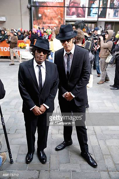 Anchors Al Roker and Lester Holt attend NBC's 'Today' Halloween BooNanza at Rockefeller Plaza on October 31 2014 in New York City
